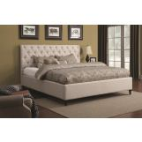 Coaster Farrah Upholstered Beds Queen Upholstered Bed in Cream 300403Q