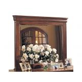 Durham Furniture Chateau Fontaine Landscape Mirror in Candlelight Cherry 975-182