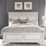 Liberty Furniture Abbey Park King Panel Bed in Antique White EST SHIP TIME IS 4 WEEKS