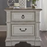 Liberty Furniture Abbey Park Drawer Nightstand in Antique White 520-BR61 EST SHIP TIME IS 4 WEEKS