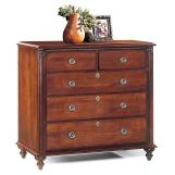 Durham Furniture Savile Row Junior Chest in Victorian Mahogany 980-166-VICM