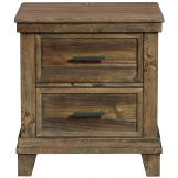 Intercon Furniture Salem 2 Drawer Nightstand in Acacia