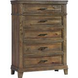 Intercon Furniture Salem 5 Drawer Chest in Acacia