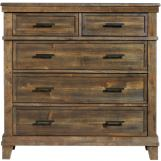 Intercon Furniture Salem 5 Drawer Media Chest in Acacia