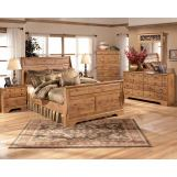 Bittersweet 4-Piece Sleigh Bedroom Set in Pine Grain
