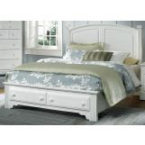 All-American Hamilton/Franklin Eastern King Panel Storage Bed in Snow White