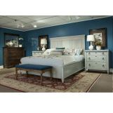 Durham Furniture Springville 4 Piece Panel Bedroom Set in Greystone