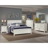 New Classic Tamarack Panel Bedroom Set in White 00-044