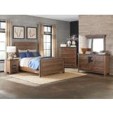 Intercon Furniture Taos 4-Piece Panel Bedroom Set in Canyon Brown