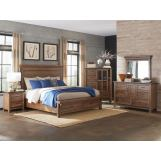 Intercon Furniture Taos 4-Piece Storage Bedroom Set in Canyon Brown