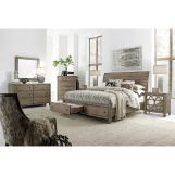 Aspenhome Tildon 6-Piece Sleigh Storage Bedroom Set in Mink WILL SHIP IN EARLY JANUARY 2020