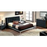 ESF Furniture 603 Toledo Platform Bedroom Set in Black