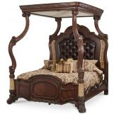 AICO Victoria Palace Cal King Canopy Bed in Light Espresso
