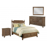 Kincaid Weatherford Westland Storage Poster Bedroom Set in Grey Heather