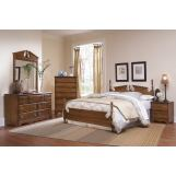 Carolina Furniture Common Sense 4 Piece Panel Bedroom Set in Cherry