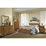 Carolina Furniture Creek Side 4 Piece Poster Bedroom Set in Autumn Oak