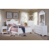 Carolina Furniture Cottage 4 Piece Bedroom Set in White