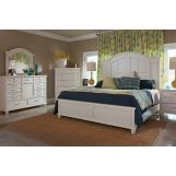 Klaussner Sea Breeze 4-Piece Island Bliss Panel Bedroom Set in White