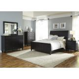 Liberty Furniture Hamilton III 4-Piece Sleigh Bedroom Set in Black