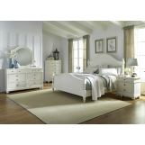 Liberty Furniture Harbor View II 4-Piece Poster Bedroom Set in Linen