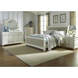 Liberty Furniture Harbor View II 4-Piece Sleigh Bedroom Set in Linen