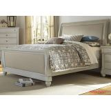 Liberty Furniture Harbor View III Queen Sleigh Bed in Dove Gray 731-BR-QSL