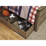 Trinell Underbed Storage in Warm Rustic Oak B446-60
