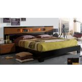 ESF Furniture Sal King Platform Bed in Black/Walnut