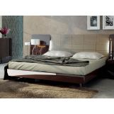 ESF Furniture Barcelona Queen Platform Bed in Dark Brown