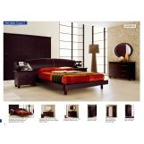 ESF Furniture Miss Italia (Comp 9) 4-Piece Europa Drop Wood Headboard Platform Bedroom Set in Matte