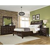 Intercon Furniture Hayden 4-Piece Sleigh Storage Bedroom Set in Rough Sawn and Espresso