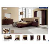 ESF Furniture Miss Italia (Comp 3) 4-Piece Drop Leather Headboard Platform Bedroom Set in Matte