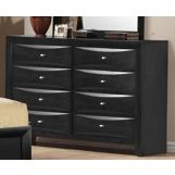 Global Furniture Livia 8 Drawer Dresser in Black