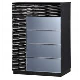 Global Furniture Manhattan 5 Drawer Chest in Black