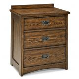 Intercon Furniture Oak Park 3 Drawer Nightstand in Mission