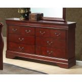 Global Furniture Philippe 8 Drawer Dresser in Cherry