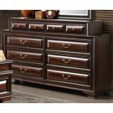 Global Furniture Sarina 10 Drawer Dresser in Varnish Oak