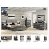 ESF Furniture Elite Grey Birch 4-Piece Platform Bedroom Set in Grey
