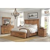 Hekman Wellington Hall 4-Piece Panel Bedroom Set in Burnished Brown