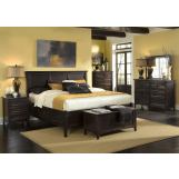 A-America Westlake Storage Bedroom Set in Dark Mahogany