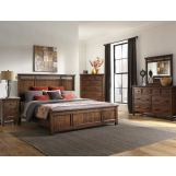 Intercon Furniture Wolf Creek 4-Piece Panel Bedroom Set in Vintage Acacia