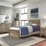 Liberty Furniture Sun Valley 5pc Youth Upholstered Panel Bedroom Set in Sandstone