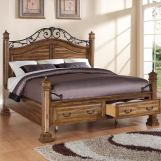 Legends Furniture Barclay California King Storage Bed in Rustic Acacia