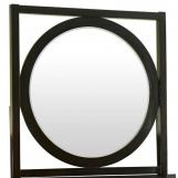 Legends Furniture Crosby Street Round Mirror with Square Frame in Morning Brew ZCST-7014