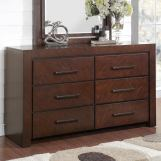 Legends Furniture City Lights 6 Drawer Dresser in Walnut ZCTL-7013