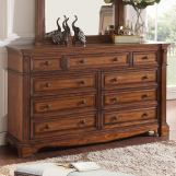 Legends Furniture Parliament 9 Drawer Dresser in Hazelnut ZPAR-7013
