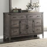 Legends Furniture Storehouse 6 Drawer Dresser in Smoked Grey ZSTR-7013