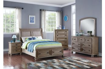 New Classic Furniture Allegra Youth Storage Bedroom Set in Pewter