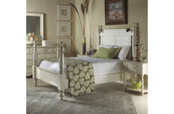 Fine Furniture Summer Home Post Bedroom Set in Shell 1051