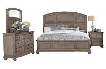 Homelegance Lavonia 4pc Panel Bedroom Set in Gray